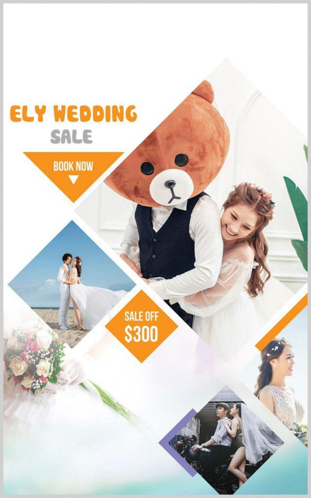 Bảng giá chụp ảnh cưới biệt thự hoa hồng