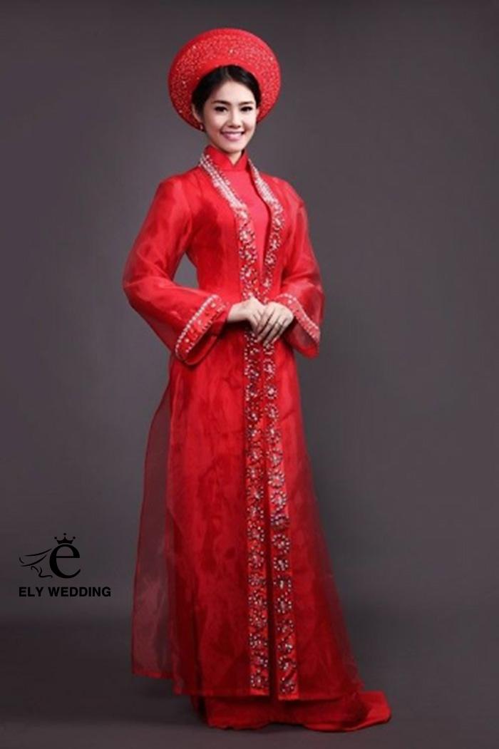 Top 100+ áo dài cưới tứ thân ưa chuộng cho mùa cưới