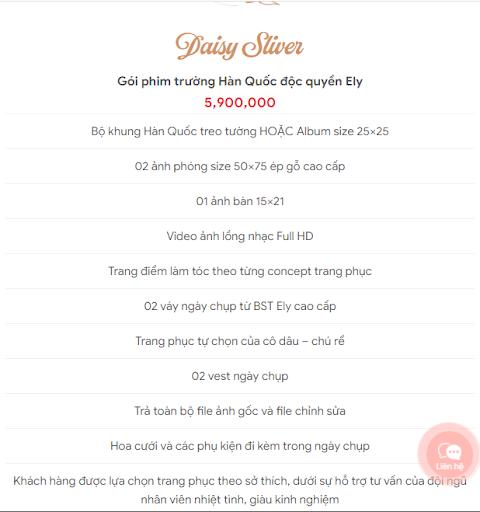 Báo giá ưu đãi gói chụp ảnh cưới 2021