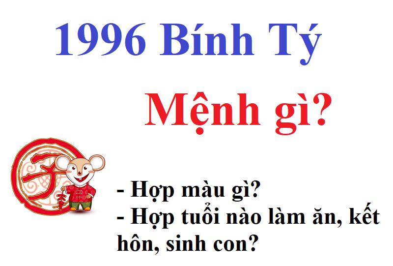 Năm 1996 Hợp Tuổi Nào? Xem Tuổi Lấy Vợ,Chồng Cho Bính Tý
